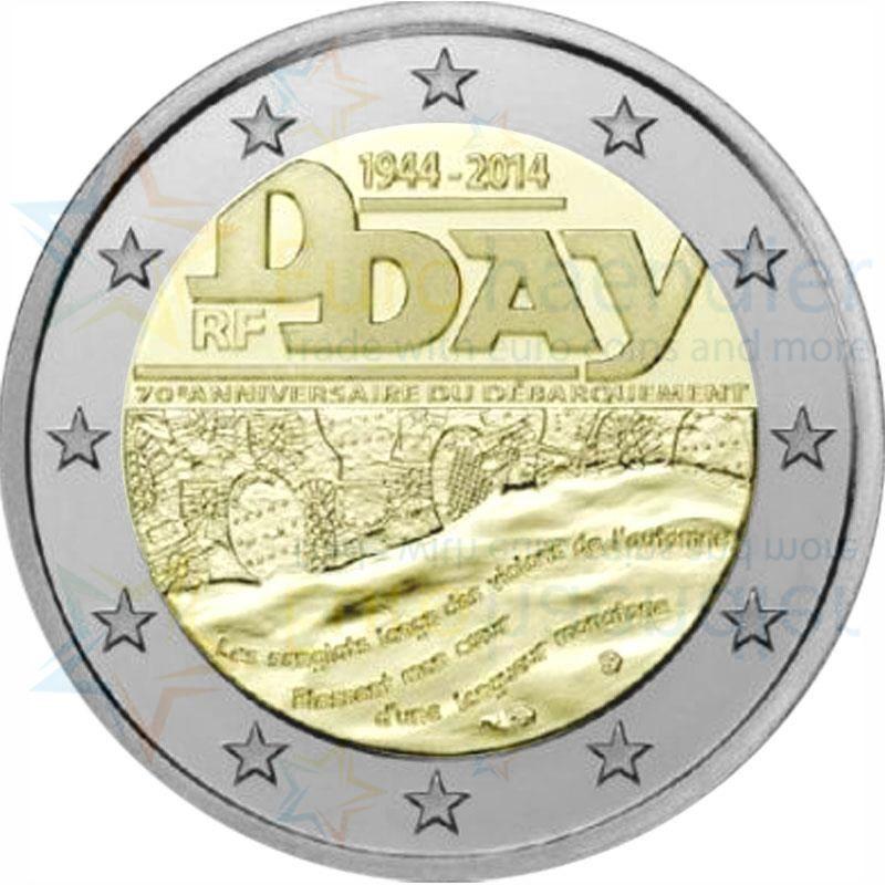 Frankreich 2 euro gedenkm nze 2014 unc 70 jahrestag des for Wohnwand 70 euro