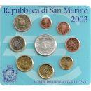 San Marino KMS 2003 ST 1 Cent - 2 Euro 5 Euro...