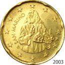 San Marino 20 Cent Kursmünze 2003 ST lose