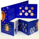 Niederlande KMS 2002 ST 1 Cent - 2 Euro Beatrix FDC im...