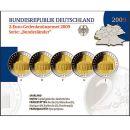 Deutschland 5 x 2 Euro Gedenkmünze 2009 PP Saarland...