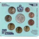 San Marino KMS 2009 ST 1 Cent - 2 Euro 5 Euro...