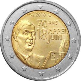 Frankreich 2 Euro Gedenkmünze 2010 ST Charles de Gaulle lose