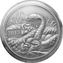 Tokelau 5 Dollar 2013 Jahr der Schlange 1 Oz Silber...