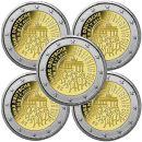 Deutschland 5 x 2 Euro Gedenkmünze 2015 ST 25 Jahre...
