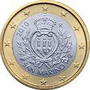 San Marino 1 Euro Kursmünze 2010 ST lose