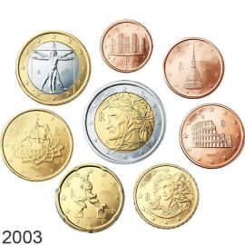 Italien KMS 2003 ST 1 Cent - 2 Euro lose