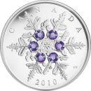 Kanada 20 Dollar 2010 PP Snowflake Tansanit Silber Etui...