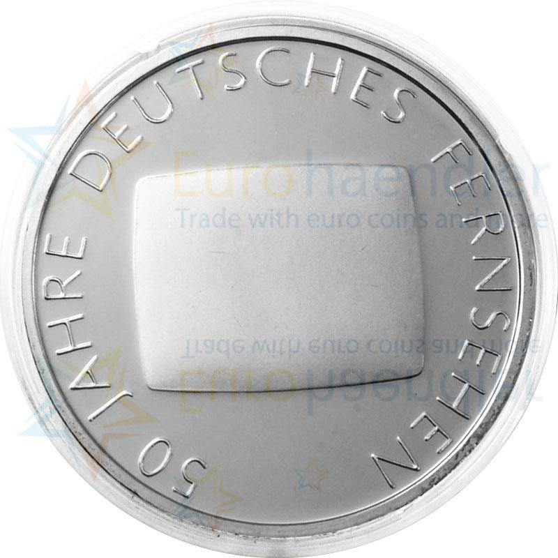 deutschland 10 euro 2002 pp 50 jahre fernsehen silber kapsel lose g nstig kaufen. Black Bedroom Furniture Sets. Home Design Ideas