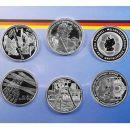 Deutschland 6 x 10 Euro Gedenkmünzen 2003 PP Silber...