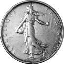 Frankreich 5 Francs 1963 VS Silber Säerin lose