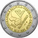 Slowakei 2 Euro Gedenkmünze Rolle 2011 ST Visegrad...