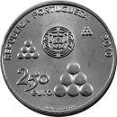 Portugal 2,5 Euro Münze 2010 ST 200 Jahre Linhas de...