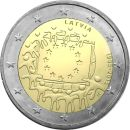 Lettland 2 Euro Gedenkmünze 2015 - 30 Jahre Europa...
