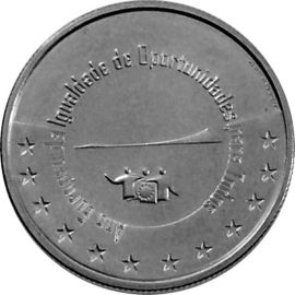 Portugal 5 Euro Münze 2007 Silber - Chancengleichheit - lose