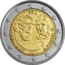 Belgien 2 Euro Gedenkmünze 2011 ST 100. Internationalen...