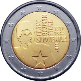 Slowenien 2 Euro Gedenkmünze Sondermünzen 2011 ST Franc Stane Rozman