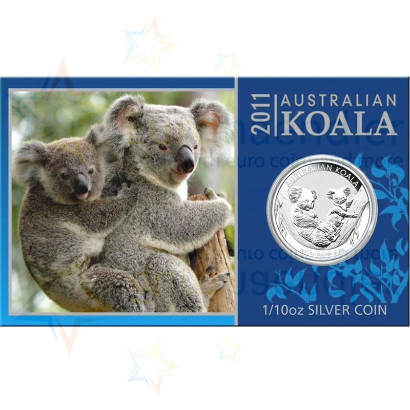 australien 10 cent 2011 st koala in coincard silber g nstig kaufen. Black Bedroom Furniture Sets. Home Design Ideas