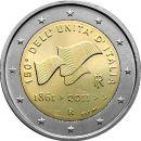 Italien 25 x 2 Euro Gedenkmünze Rolle 2011 ST...