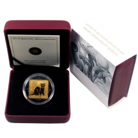 Kanada 3 Dollar 2011 PP Wildlife Schwarzfuß Iltis Silber Zertifikat
