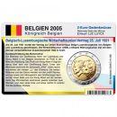 Belgien Münzkarte für 2 Euro 2005 Wirtschaftsunion