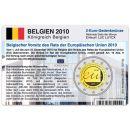Belgien Münzkarte für 2 Euro 2010 EU...