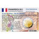 Frankreich Münzkarte für 2 Euro 2011 30 Jahre...