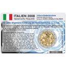 Italien Münzkarte für 2 Euro 2008 60 Jahre...