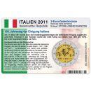 Italien Münzkarte für 2 Euro 2011 150. Jahrestag Einigung Italiens