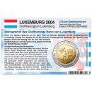 Luxemburg Münzkarte für 2 Euro 2004 Monogramm...