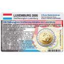 Luxemburg Münzkarte für 2 Euro 2005...