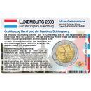 Luxemburg Münzkarte für 2 Euro 2008 Schloss von...