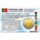 Portugal Münzkarte für 2 Euro 2009 Spiele der...