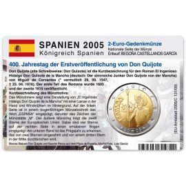Spanien Münzkarte für 2 Euro 2005 Don Quijote