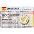 Spanien Münzkarte für 2 Euro 2010 Moschee Cordoba