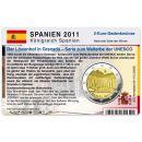 Spanien Münzkarte für 2 Euro 2011 Alhambra in...