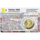 Vatikan Münzkarte für 2 Euro 2006 Schweizer...