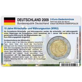 Deutschland Münzkarte Für 2 Euro 2009 10 Jahre Wwu D