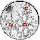Kanada 20 Dollar 2011 PP Small Snowflake Hyacinth Silber...