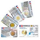 Frankreich Münzkarte Set für alle 2 Euro...