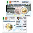 Irland Münzkarte Set für alle 2 Euro...