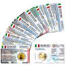 Italien Münzkarten Set für alle 2 Euro...