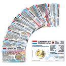Luxemburg Münzkarten Set für alle 2 Euro...