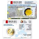 Malta Münzkarten Set für alle 2 Euro...