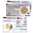 Monaco Münzkarten Set für alle 2 Euro...
