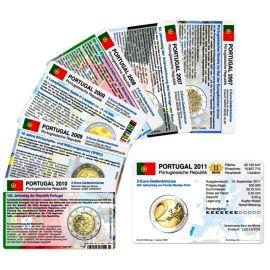 Portugal Münzkarten Set für alle 2 Euro Gedenkmünzen