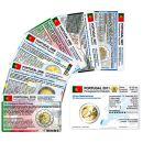 Portugal Münzkarten Set für alle 2 Euro...