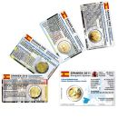 Spanien Münzkarten Set für alle 2 Euro...