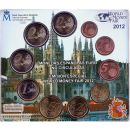 Spanien KMS 2012 1 Cent - 2 Euro + 2 Euro + 2 Euro World...