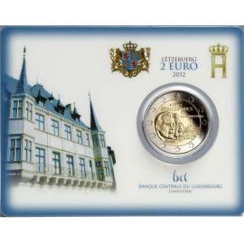 Luxemburg 2 Euro 2012 ST Großherzog Wilhelm IV. von Luxemburg Coincard